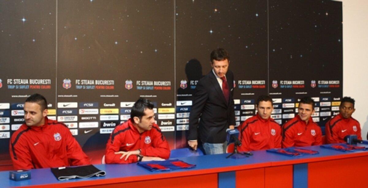 Mihai Stoica, Dică şi Maicon în conferinţă de presă