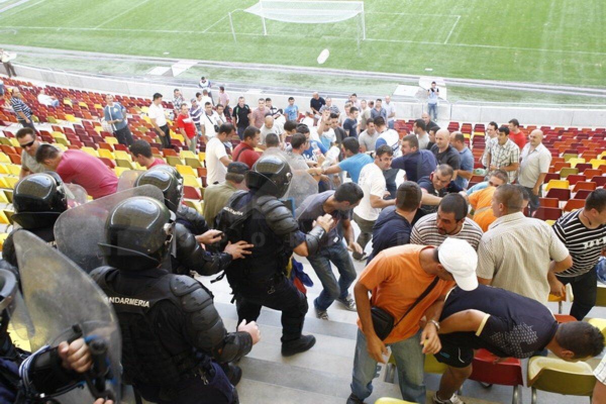 National Arena sub asediu ;) Împuşcături şi desfăşurări de forţe pe noul stadion