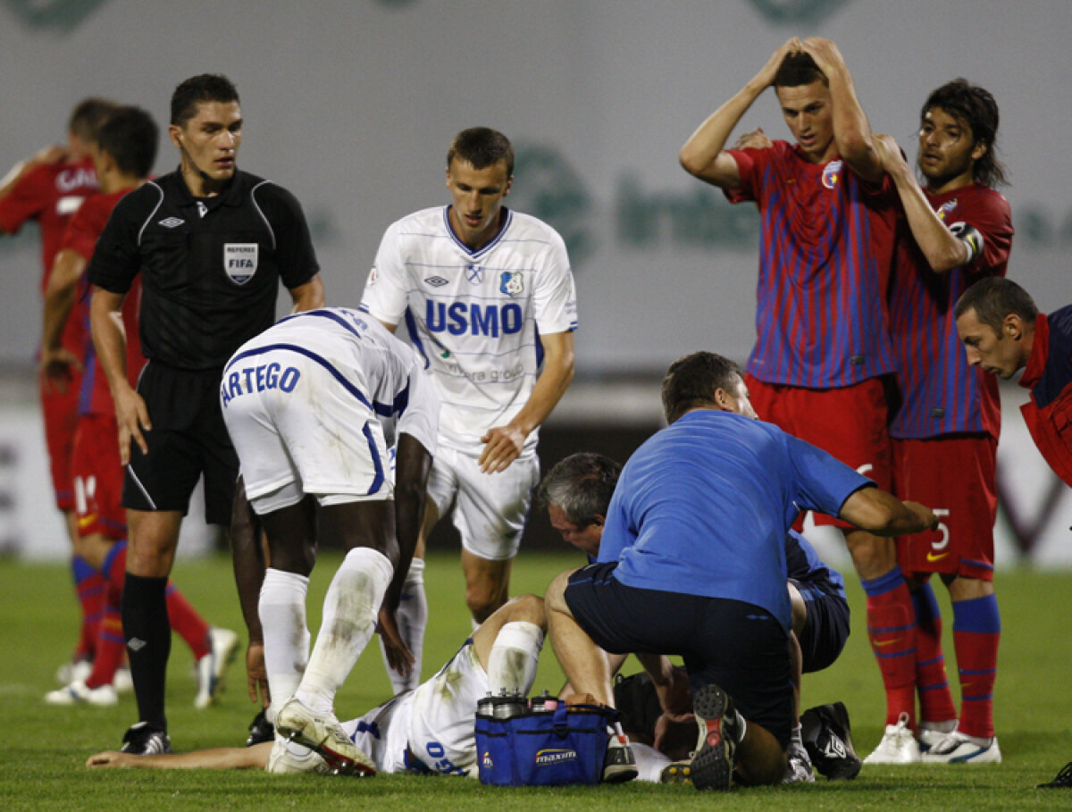 GALERIE FOTO Gardoş, distrus după accidentarea lui Băcilă » A plîns în hohote după meci