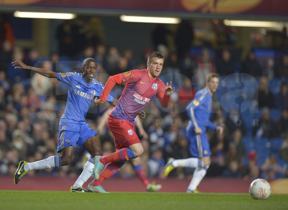 VIDEO şi FOTO » Chelsea - Steaua 3-1. Out din Europa, dar cu capul sus!