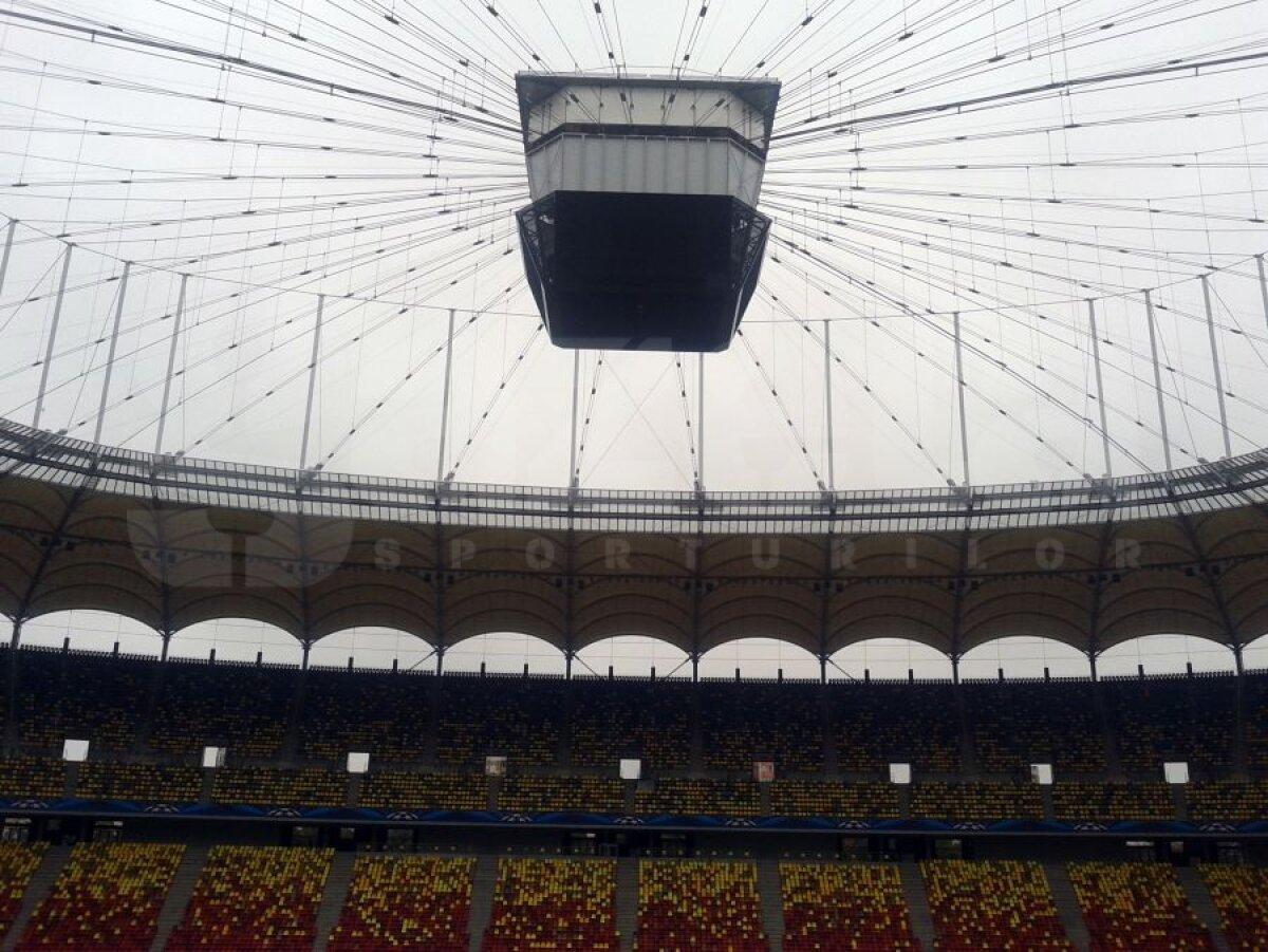 FOTO + VIDEO Se strică gazonul la Steaua - Chelsea? Acoperişul nu a fost tras » UPDATE / Reacţia lui Reghecampf!