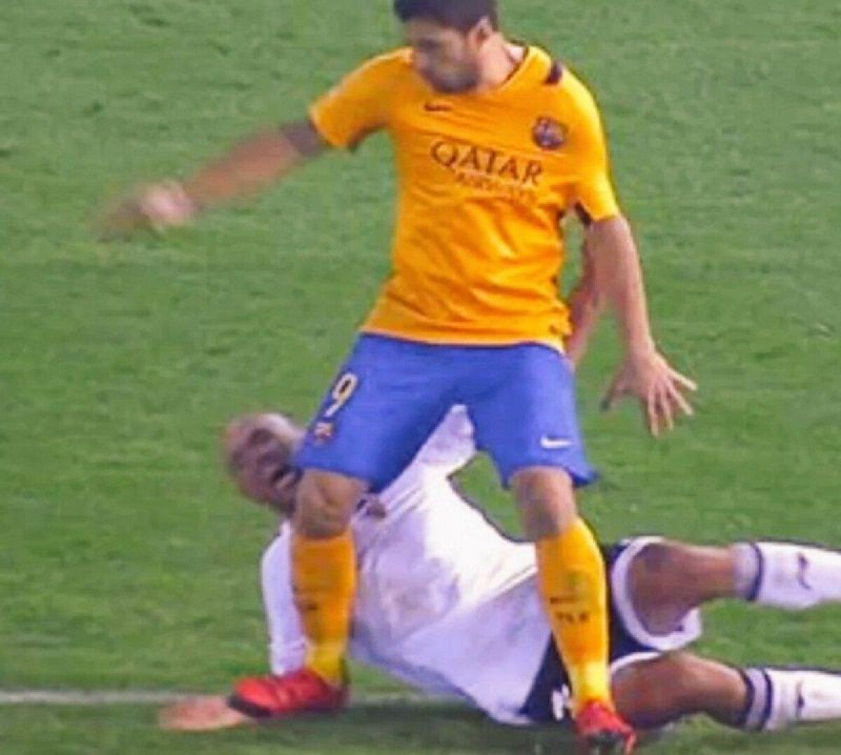 Bad boy Suarez » Vedeta Barcelonei e acuzată că l-a călcat de două ori pe Abdennour în meciul cu Valencia, 1-1