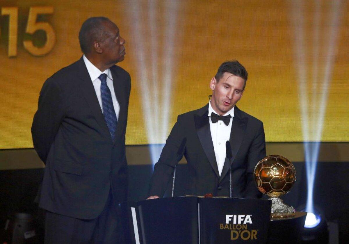 """VIDEO+FOTO Messi a cîștigat pentru a cincea oară Balonul de Aur: """"Visam la asta de cînd eram copil!"""""""