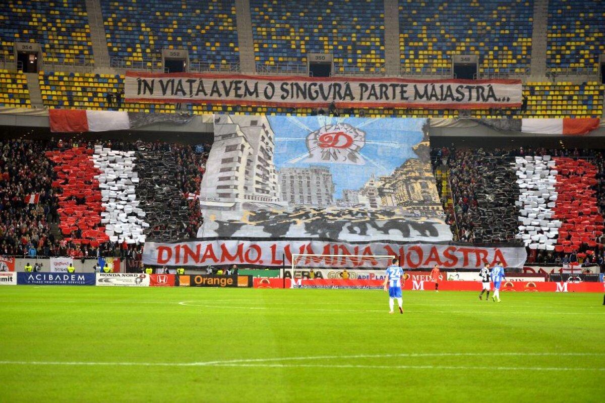 FOTO + VIDEO Atmosferă de meci mare pe Arena Națională! Dinamoviștii au avut coregrafie