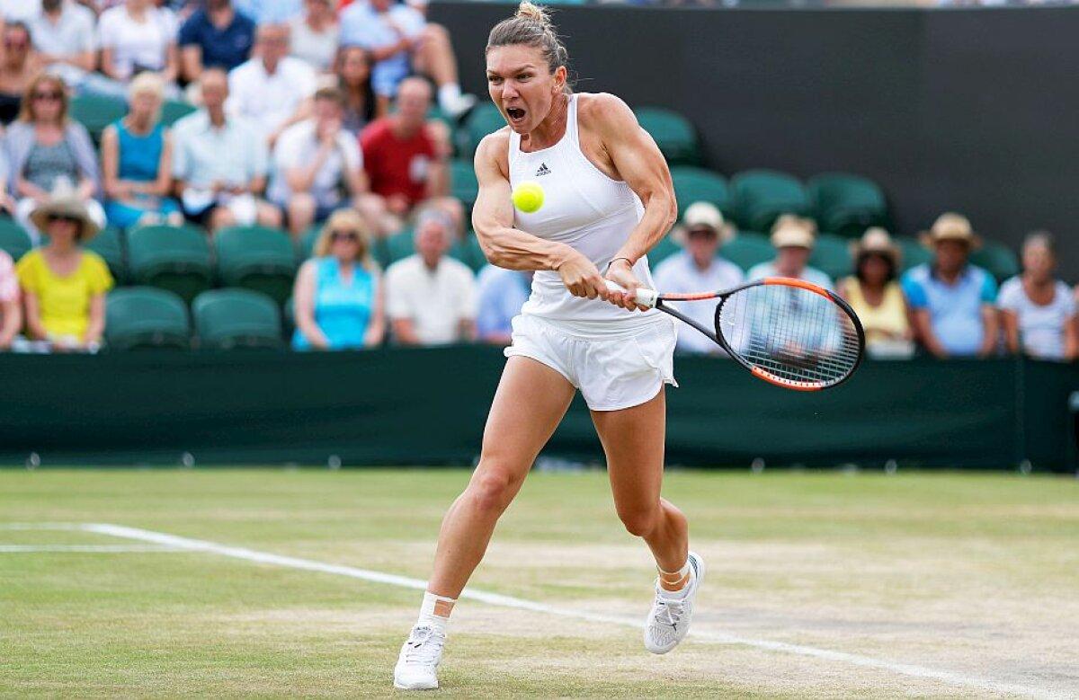 """VIDEO+FOTO Halep trece de Azarenka și se califică în """"sferturi"""" la Wimbledon » E la o victorie de locul 1! Ce adversară va avea în meciul următor"""