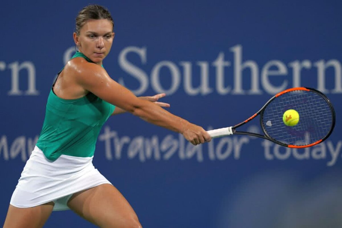 SIMONA HALEP - AJLA TOMLJANOVIC. Mai lungă încălzirea! Liderul WTA revine PERFECT după o zi de ploaie + Reacția liderului WTA
