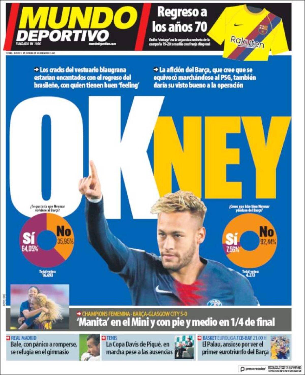 Ce scriu azi ziarele de sport din lume (18 octombrie 2018)
