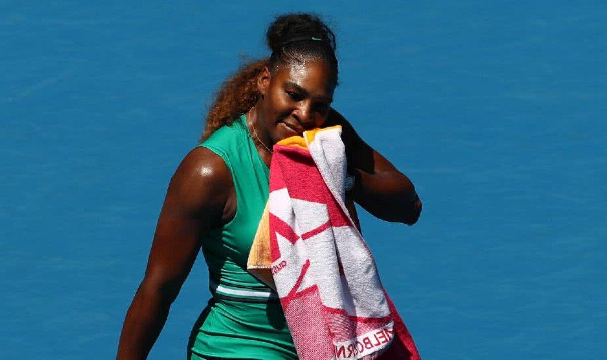 Serena Williams, ELIMINATĂ de la Australian Open de Karolina Pliskova! Americanca a avut 4 mingi de meci și 5-1 în decisiv!