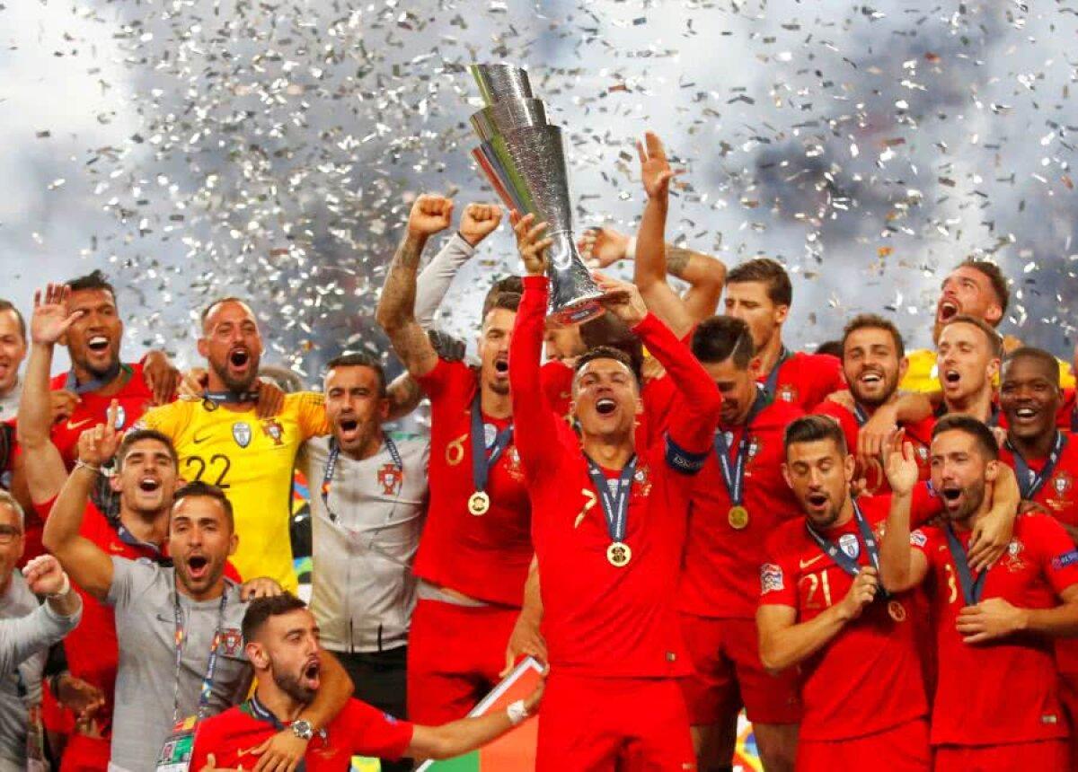 FINALĂ LIGA NAȚIUNILOR // VIDEO+FOTO Portugalia - Olanda 1-0 » Regii lusitani: Ronaldo și compatrioții lui domină Europa