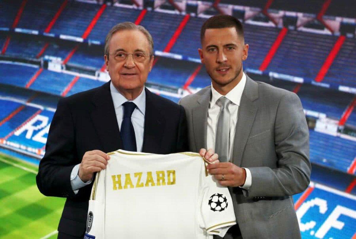"""VIDEO+FOTO Eden Hazard, prezentat la Real Madrid în fața a 50.000 de spectatori » Suporterii au scandat: """"Îl vrem pe Mbappe!"""""""