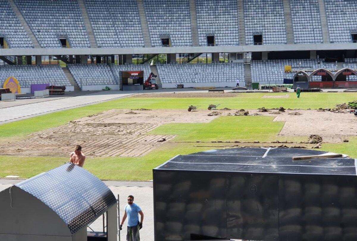VIDEO + FOTO Cum arată gazonul de pe Cluj Arena după festivalul Untold și cine suportă pagubele