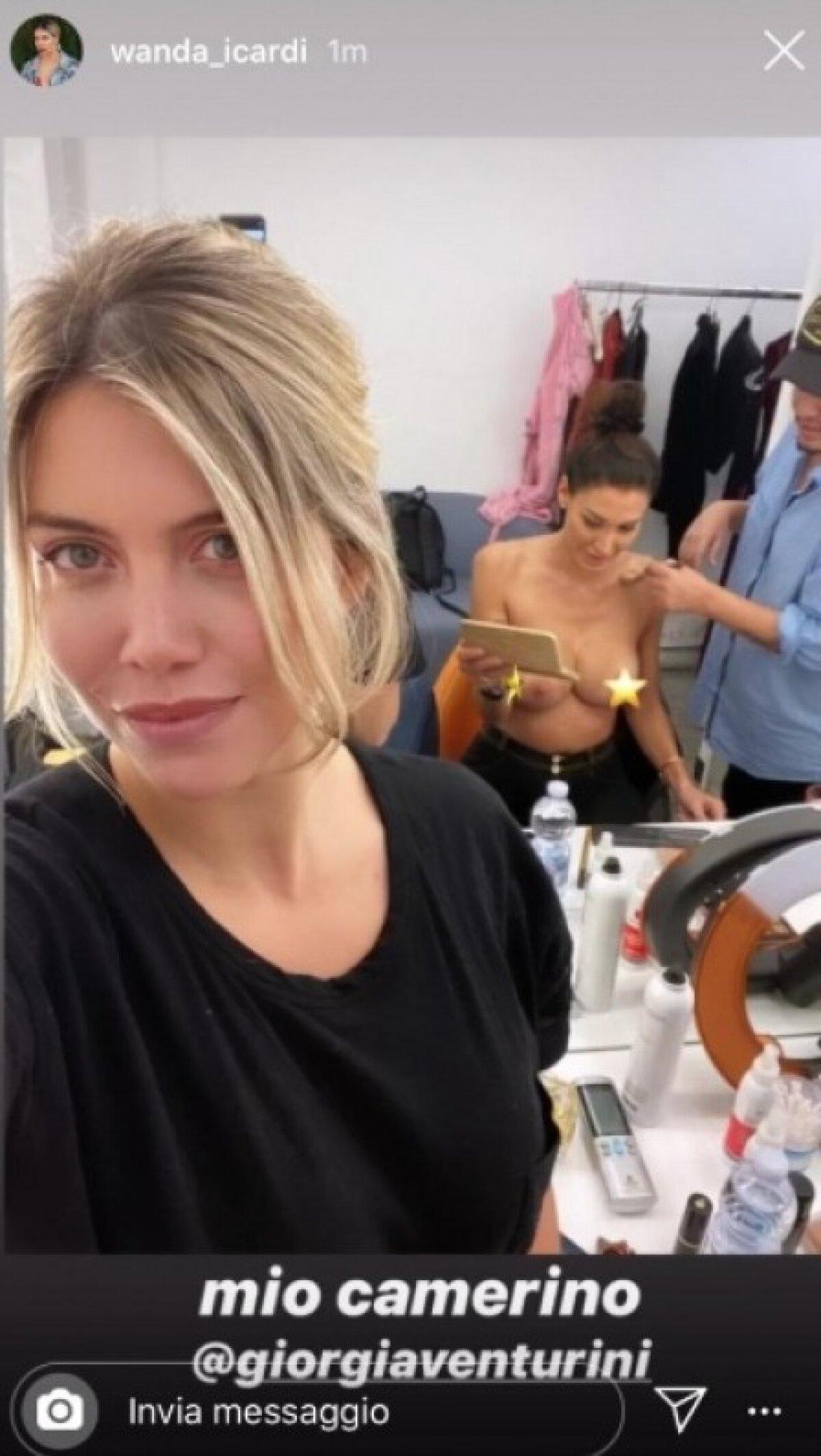 Atenție, imagini XXX! Wanda Nara a întrecut orice măsură! A postat un selfie cu Giorgia Venturini în sânii goi