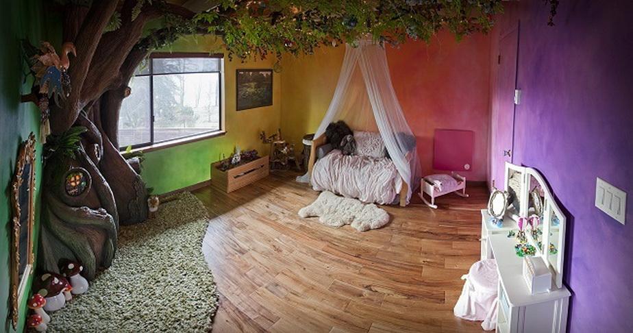 Pentru a-şi face fetiţa fericită, un tată i-a transformat complet camera! Rezultatul este fabulos!