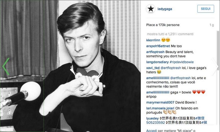 Lady Gaga şi-a făcut tatuaj cu David Bowie