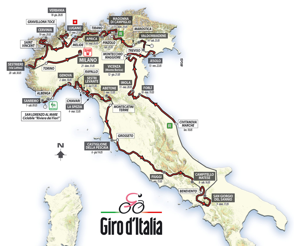 giro ditalia 2015 overall map