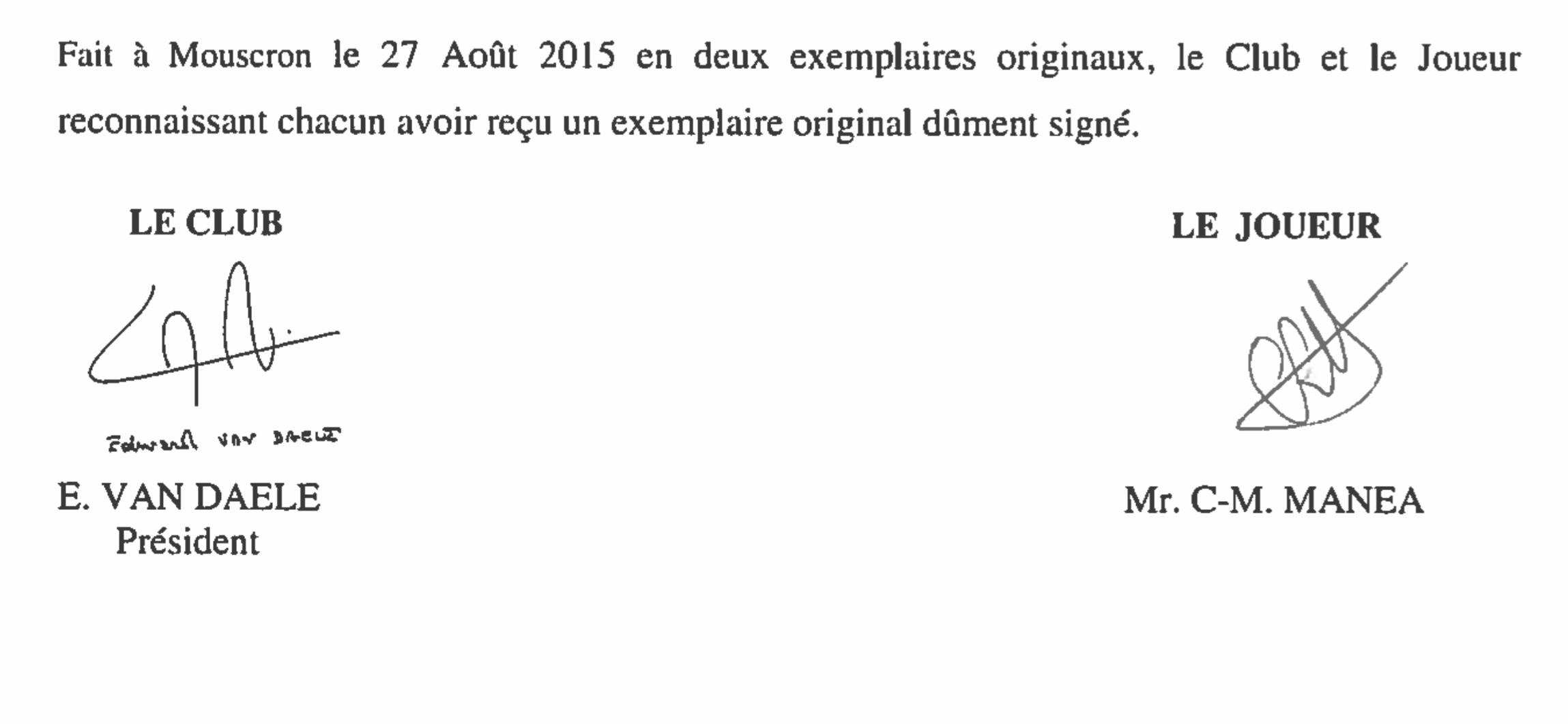 semnaturi contract mouscron