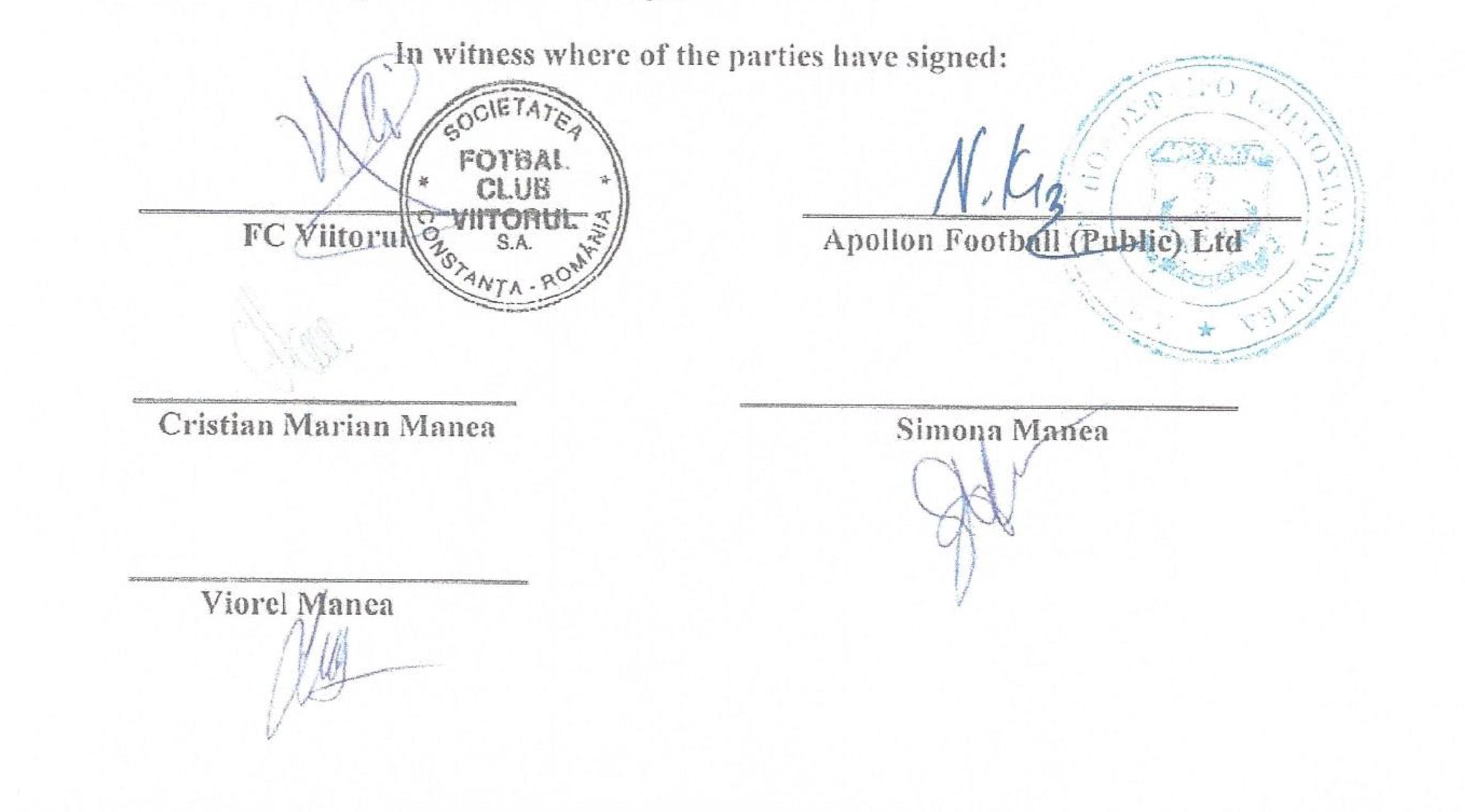 semnaturi transfer de la viitorul