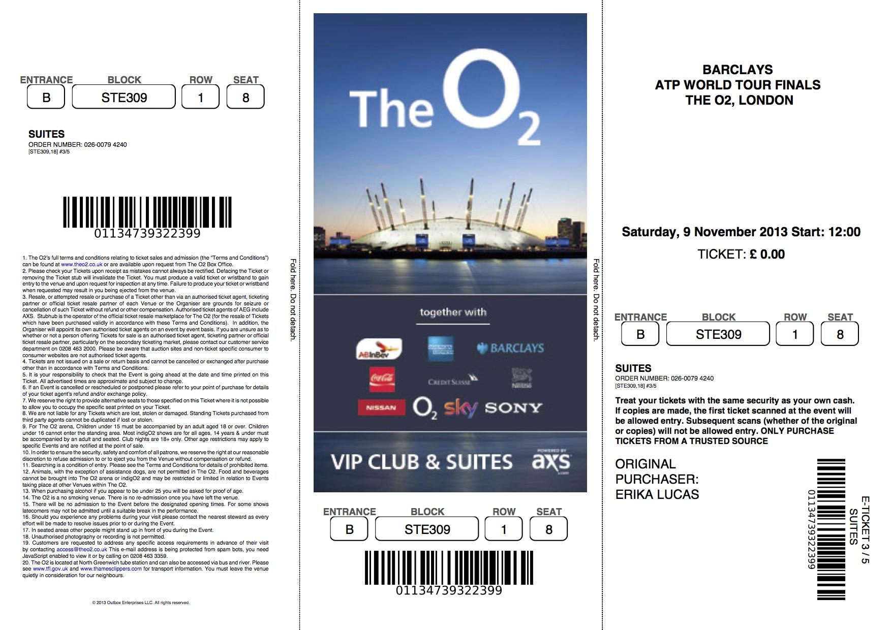3 bilete 9 noiembrie