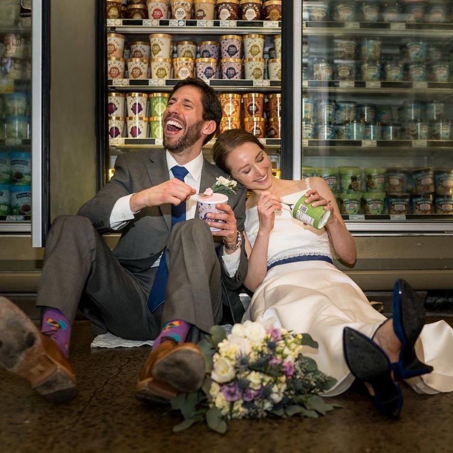 Un cuplu din SUA s-a căsătorit într-un supermarket!