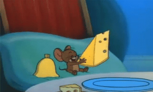 jerry eating cheese