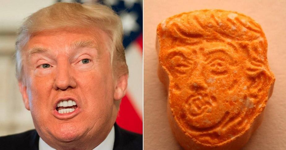 Au fost descoperite droguri cu fața lui Donald Trump!