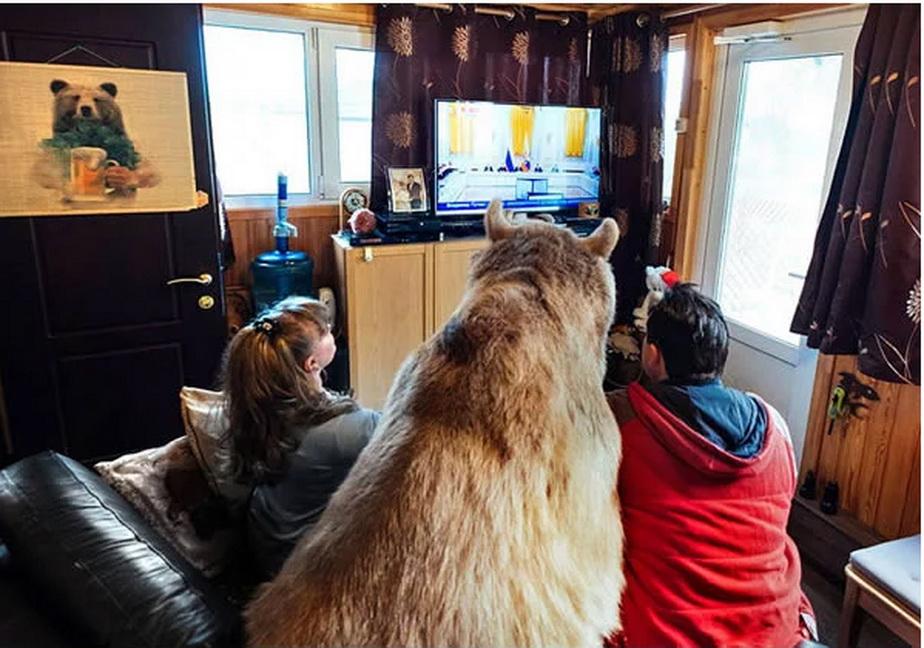 FOTO & VIDEO Au adoptat un urs în urmă cu 23 de ani şi încă trăiesc cu el în casă