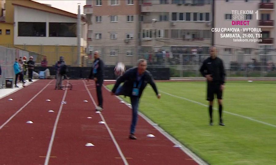 Mircea Rednic, Dinamo. Captură TV Telekom Sport