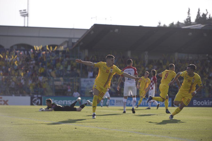 Ianis Hagi marchează pentru 2-0 în România U21 - Croația U21