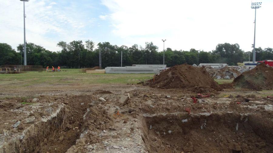 Stadion Arcul de Triumf - stadiul lucrărilor