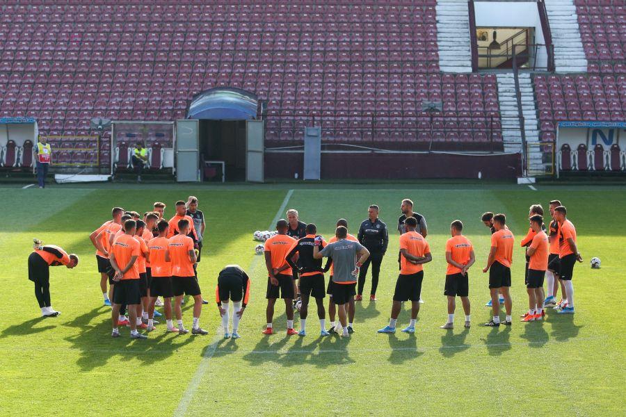 CFR Cluj, antrenament înaintea meciului tur cu Maccabi Tel-Aviv