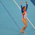 Campioana olimpică la sol de la JO 2008, Sandra Izbaşa, a revenit în elita mondială la aparatul care a consacrat-o Foto: Cristi Preda
