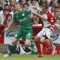 Burcă a avut de furcă în duelurile cu Dzeko, la meciurile dintre Cottbus şi Wolfsburg în Erste Bundesliga
