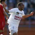 Didi a marcat ieri primele două goluri pentru FCM Tg. Mureş, club la care a fost cedat în vară de CFR Foto: Lorand Vakarcs