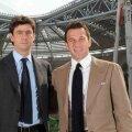 Andrea Agnelli şi Alessandro del Piero, pozînd azi pe noua Juventus Arena