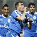 Cristian Todea bucurîndu-se după golul marcat în poarta Rapidului în returul campionatului recent încheiat