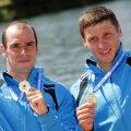 Alexandru Dumitrescu și Victor Mihalachi au luat aurul cu un vîrf de canoe Foto: Reuters