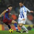 David Villa în duel cu Apono