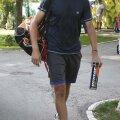 Victor Hănescu, instantaneu pe aleile din Complexul BNR, înainte de antrenament