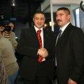 Altădată prieteni, Rudel Obreja (stînga) şi Vasile Cîtea au fost azi, la Lausanne, în tabere opuse