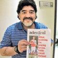 "Maradona il incurajeaza pe Nesu: ""Zimbeste, Mihai, zimbeste"" (sursa foto: Adevarul)"