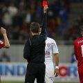 Steaua şi Rapid au adunat împreună 17 cartonaşe roşii