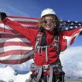 Jordan a avut ocazia să fluture steagul american pe şapte mari vîrfuri ale lumii.