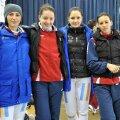 Anca Măroiu, Ana Brînză, Simona Deac și Simona Gherman înainte de concurs Foto: Augusto Bizzi