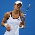 Edina Gallovits reacţionează după un punct pierdut în semifinala de ieri
