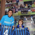 Fillipo, alături de Javier Zanetti.