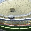 Acoperișul de la Național Arena a fost tras cu ocazia vizitei lui Platini