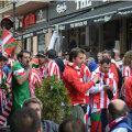 Suporterii spanioli s-au simţit foarte bine în centrul capitalei