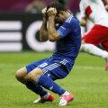 Disperarea lui Karagounis după ce a ratat penalty-ul cu Polonia