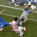 Mandzukici înscrie la prima mare ocazie a croaților, care evită primul eșec în ultimii 70 de ani contra Italiei // Foto: Reuters