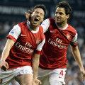 Trei ani (2008-2011), Fabregas i-a fost căpitan lui Nasri la Arsenal // Foto: Reuters